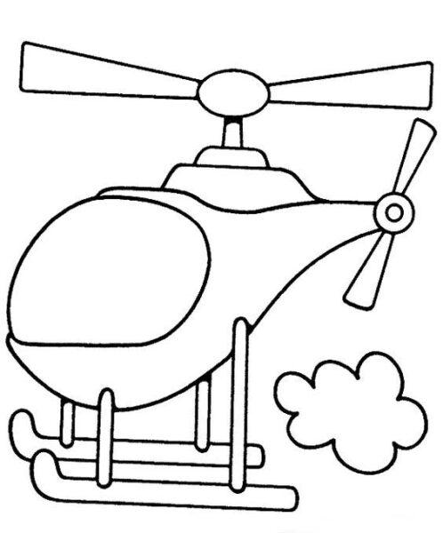 Hình tô màu máy bay đẹp cho bé tập tô (3)