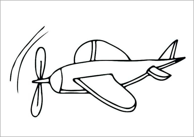 Hình tô màu máy bay đẹp cho bé tập tô (4)
