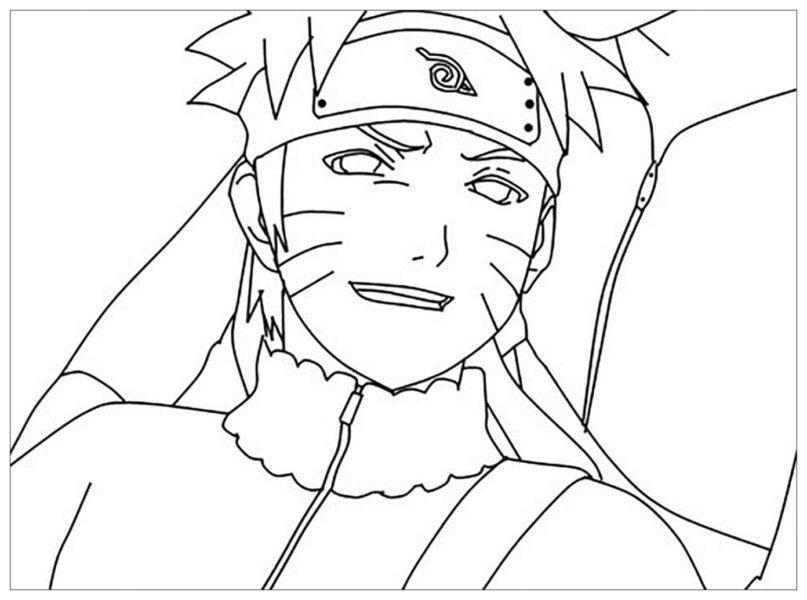 Hình tô màu Naruto ngầu nhất cho bé tập tô (3)