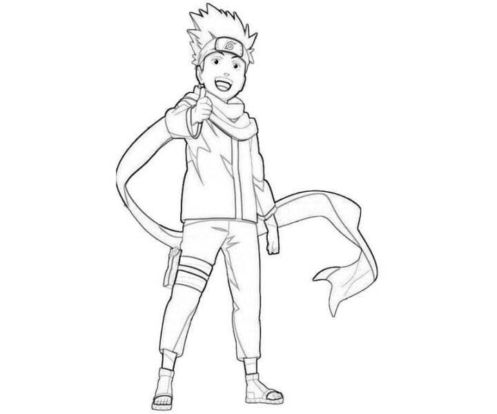 Hình tô màu Naruto ngầu nhất cho bé tập tô (4)