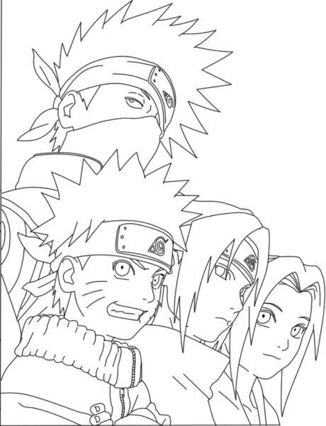 Hình tô màu Naruto ngầu nhất cho bé tập tô (5)