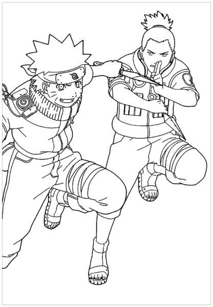 Hình tô màu Naruto ngầu nhất cho bé tập tô (6)