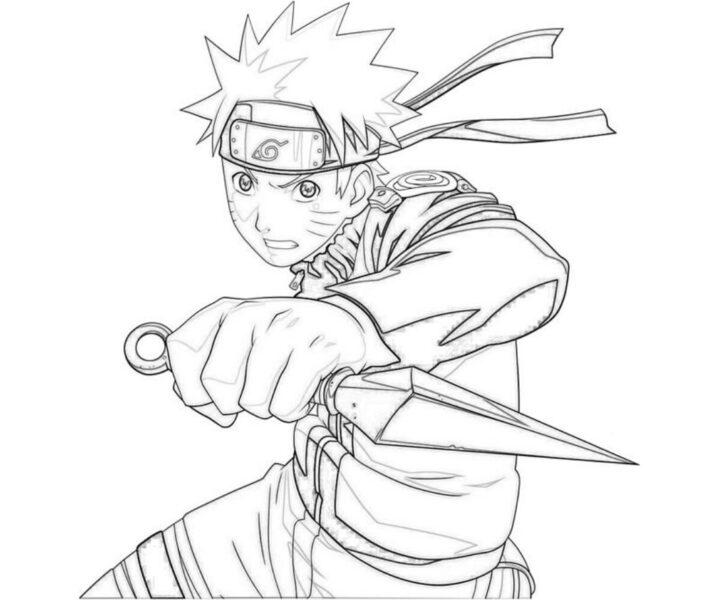 Hình tô màu Naruto ngầu nhất cho bé tập tô (7)