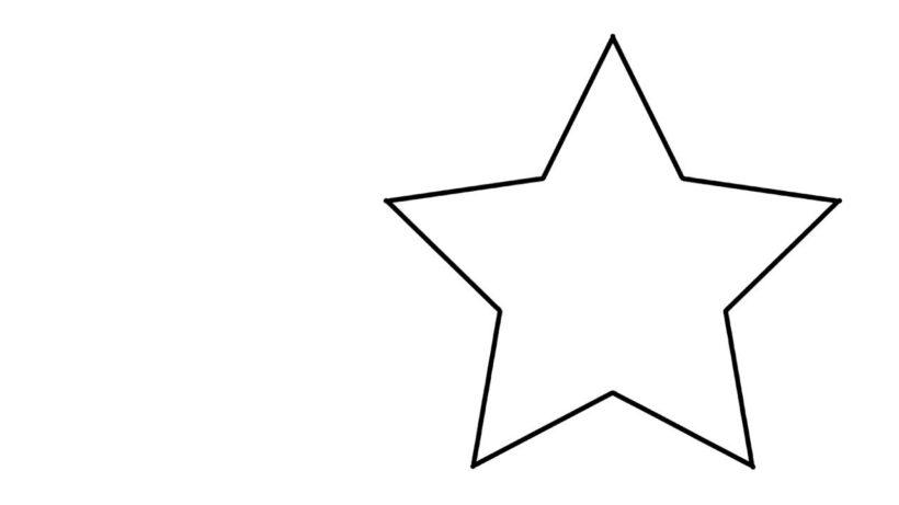 Hình tô màu ngôi sao cho bé tập tô (1)