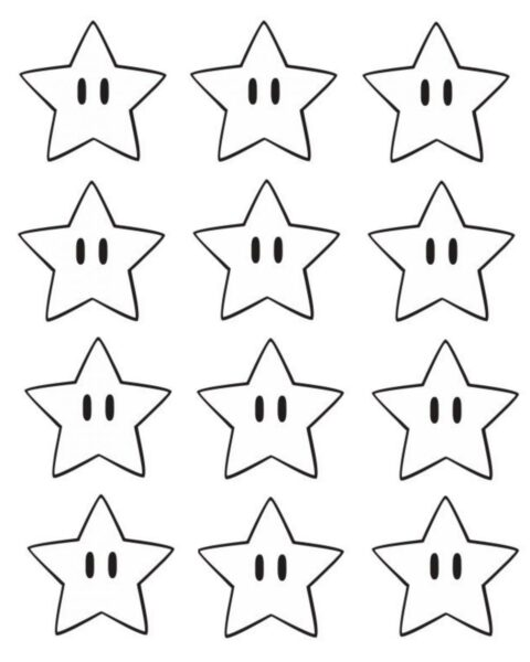 Hình tô màu ngôi sao cho bé tập tô (2)