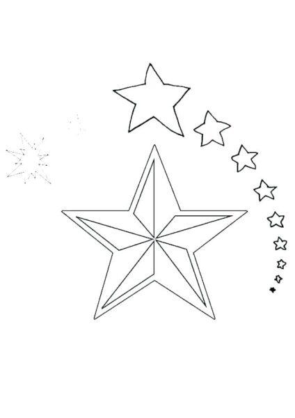 Hình tô màu ngôi sao cho bé tập tô (3)