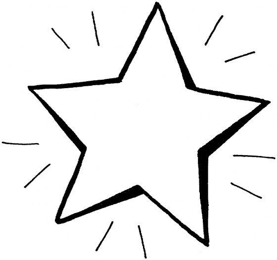 Hình tô màu ngôi sao cho bé tập tô (4)