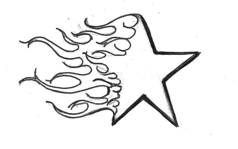Hình tô màu ngôi sao cho bé tập tô (5)