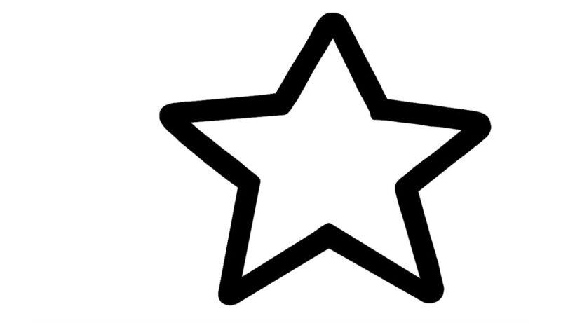 Hình tô màu ngôi sao cho bé tập tô (6)