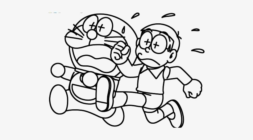 Hình tô màu Nobita đáng yêu cho bé tập tô (7)