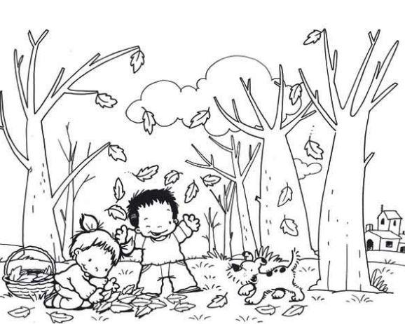 Hình tô màu phong cảnh đẹp cho bé tập tô (2)