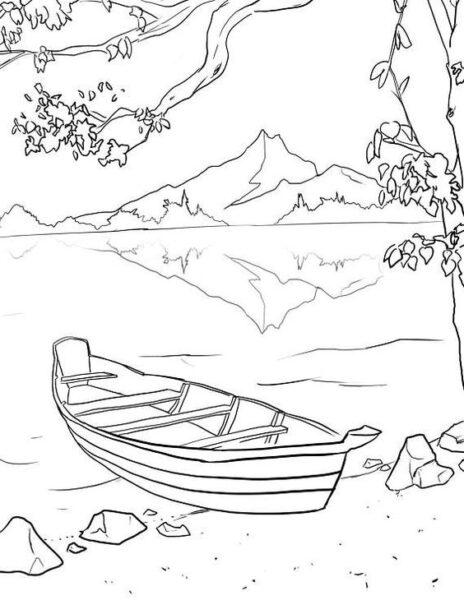 Hình tô màu phong cảnh đẹp cho bé tập tô (5)