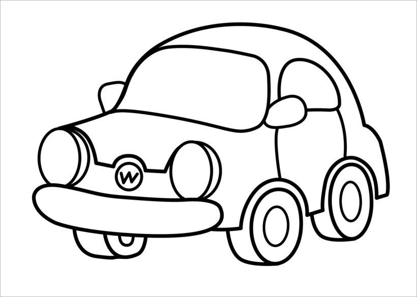 Hình tô màu phương tiện giao thông cho bé tập tô (3)