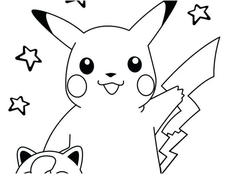 Hình tô màu Pokemon cho bé tập tô (1)