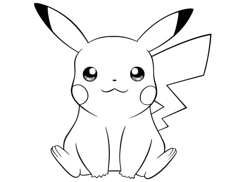 Hình tô màu Pokemon cho bé tập tô (2)