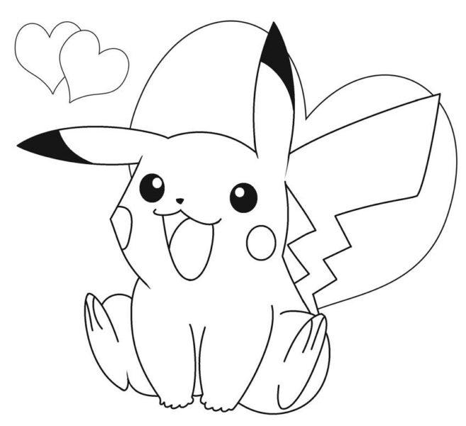 Hình tô màu Pokemon cho bé tập tô (3)