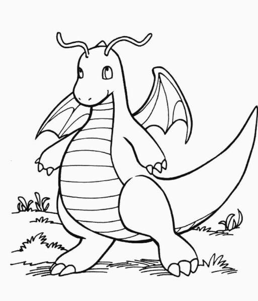 Hình tô màu Pokemon cho bé tập tô (4)