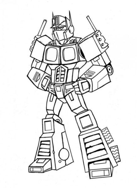 Hình tô màu robot đẹp cho bé tập tô (3)