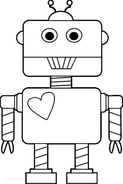 Hình tô màu robot đẹp cho bé tập tô (5)