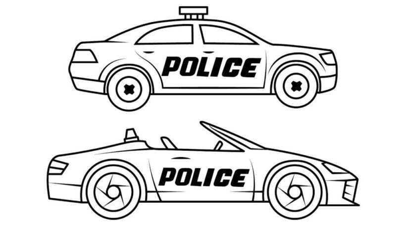Hình tô màu xe cảnh sát đẹp cho bé tập tô (6)