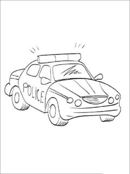 Hình tô màu xe cảnh sát đẹp cho bé tập tô (7)