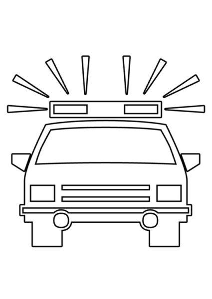 Hình tô màu xe cảnh sát đẹp cho bé tập tô (8)