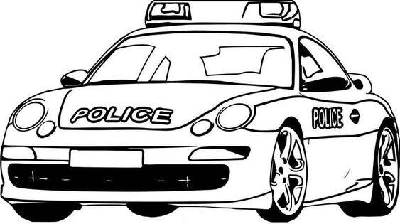 Hình tô màu xe cảnh sát đẹp cho bé tập tô (9)
