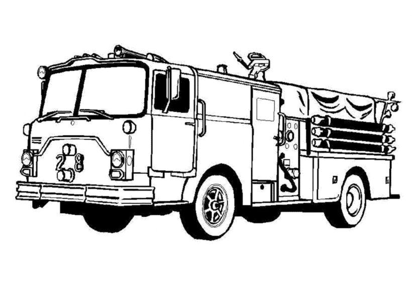 Hình tô màu xe cứu hảo cho bé tập tô (1)