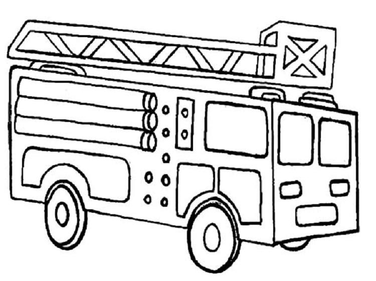 Hình tô màu xe cứu hảo cho bé tập tô (2)