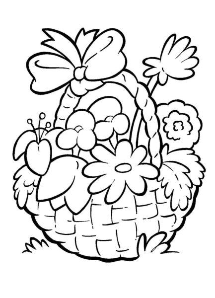 Hình vẽ bông hoa đẹp cho bé tô màu (1)