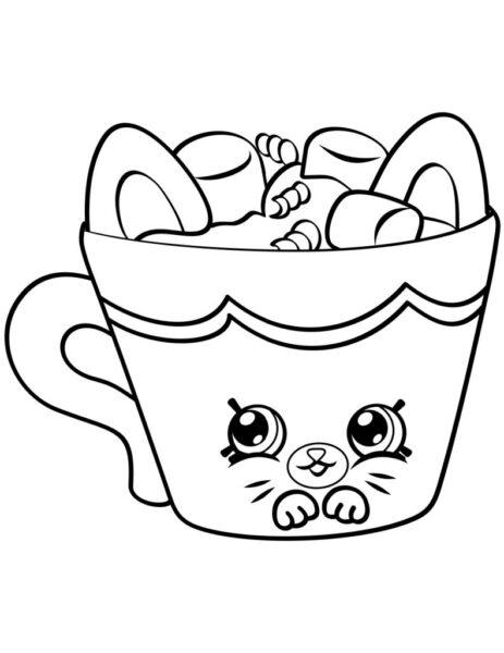 Hình vẽ chưa tô màu cái ly cho bé tập tô (3)