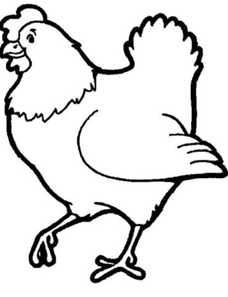 Hình vẽ chưa tô màu con vật cho bé tập tô (6)