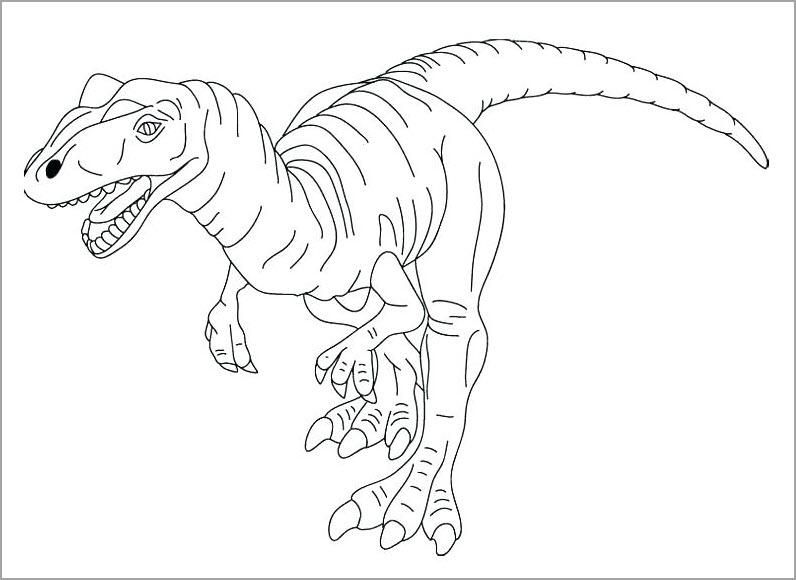 Hình vẽ chưa tô màu khủng long cho bé tập tô (4)