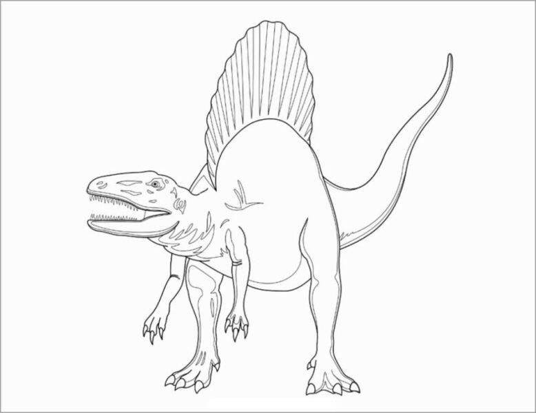 Hình vẽ chưa tô màu khủng long cho bé tập tô (5)