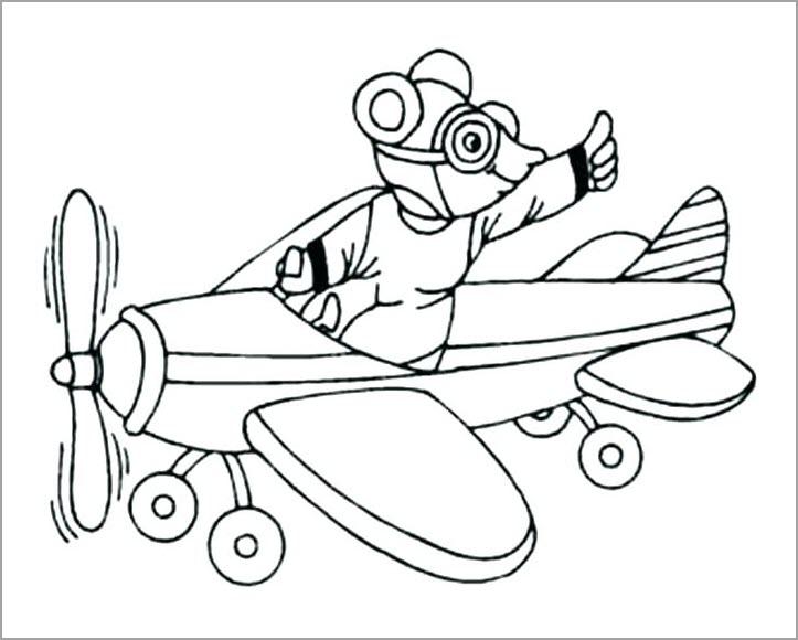 Hình vẽ chưa tô màu máy bay cho bé tập tô (6)
