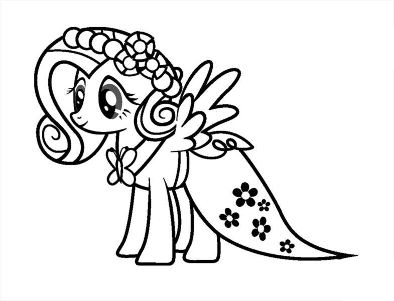 my little pony coloring pages fluttershy gala Unique Contemporar