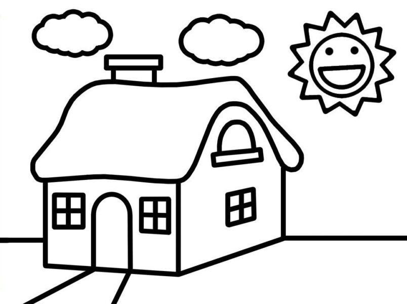 Hình vẽ chưa tô màu ông mặt trời đẹp nhất cho bé tập tô (1)