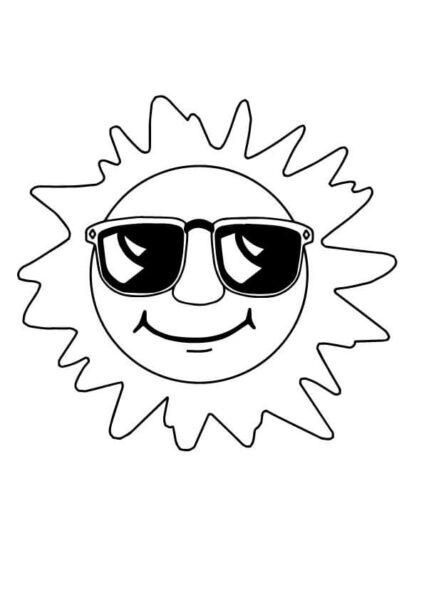 Hình vẽ chưa tô màu ông mặt trời đẹp nhất cho bé tập tô (4)