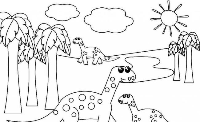 Hình vẽ chưa tô màu phong cảnh đẹp cho bé tập tô (5)