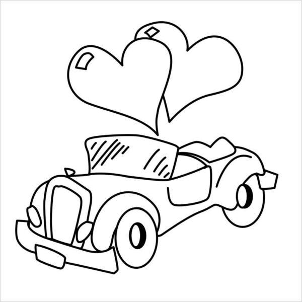 Hình vẽ chưa tô màu phương tiện giao thông đẹp nhất cho bé tập tô (1)