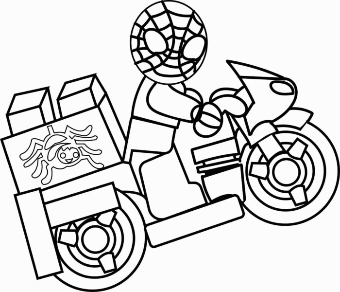 Motorcycle Coloring Book @ Motorcycle Coloring Book New Spiderman Coloring Pages Fresh Epic