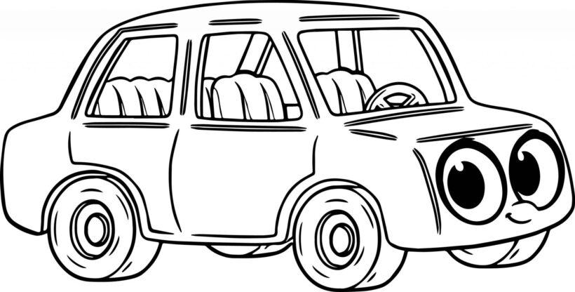 Hình vẽ chưa tô màu phương tiện giao thông đẹp nhất cho bé tập tô (4)