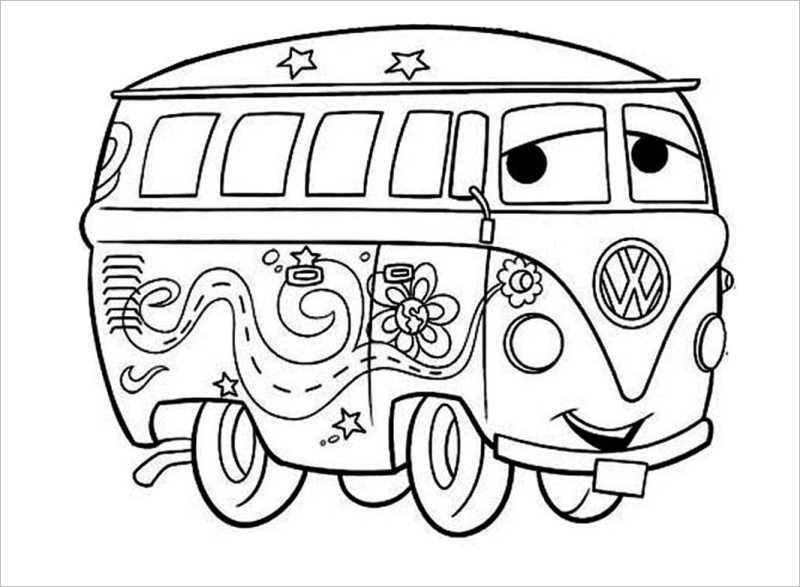 Hình vẽ chưa tô màu phương tiện giao thông đẹp nhất cho bé tập tô (5)