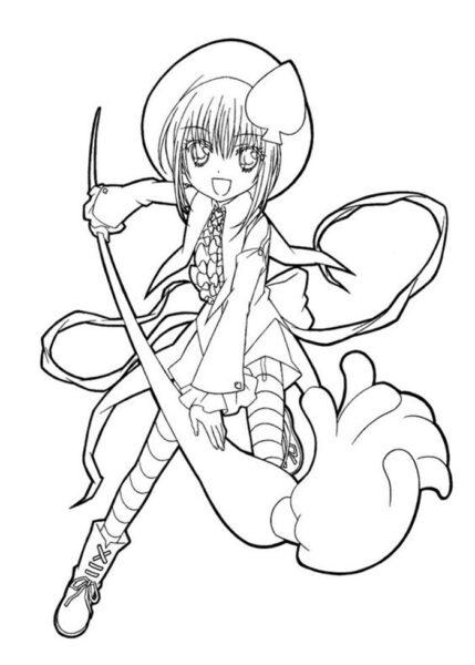 Hình vẽ chưa tô màu Sakura chất nhất cho bé tập tô (6)