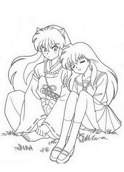 Hình vẽ chưa tô màu Sakura chất nhất cho bé tập tô (7)