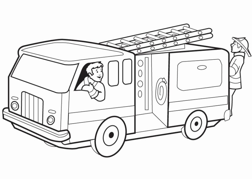 fire truck coloring page Elegant Fire Truck clipart black and white Pencil and in color fire truck