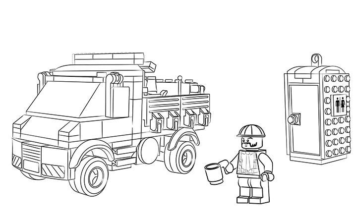 Hình vẽ chưa tô màu xe cứu hoả cho bé tập tô (2)