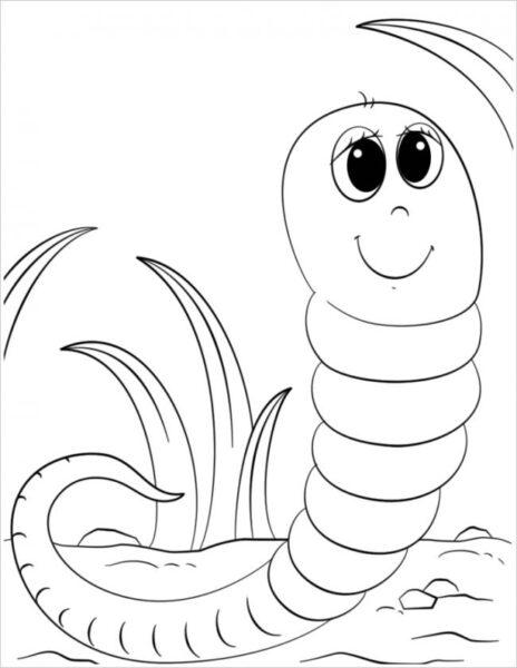 Hình vẽ con sâu đẹp nhất cho bé tô màu (1)