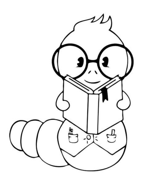 Hình vẽ con sâu đẹp nhất cho bé tô màu (2)