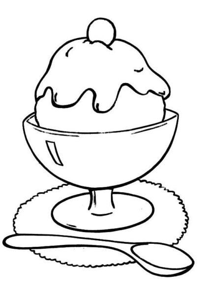 Hình vẽ đen trắng cái ly đẹp cho bé tô màu (4)